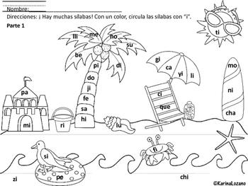 Silabas con I Bundle (Spanish)