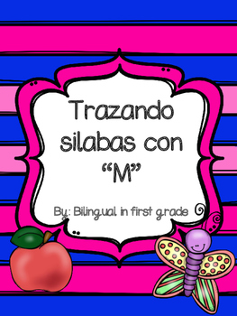 """Trazando silabas con M - Tracing Syllables """"M"""" in Spanish"""