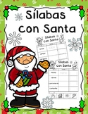 Silabas con Santa / Christmas Syllables Cut and Paste in Spanish