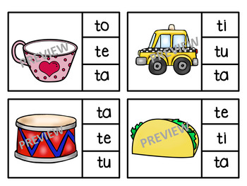 Spanish Syllable Stations: Silabas con T