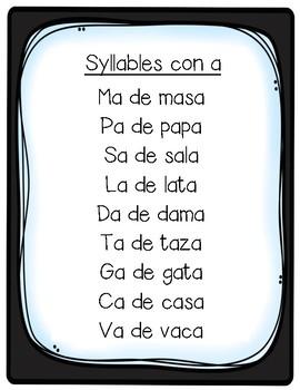 Silabas con a