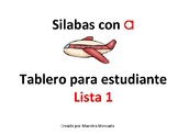 Silabas con a mats List 1 and List 2_student booklet