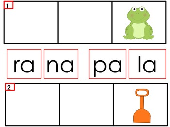 Sílabas con a/Syllables with A in Spanish