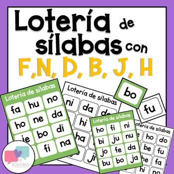 Silabas con f,n,d,b,j,h - lotería