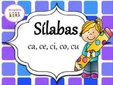 Silabas con la letra C - ca, ce, ci, co, cu. Con 2 hojas d