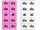 Sìlabas con la letra D   - da, de, di, do, du. Con 2 hojas de trabajo diferentes
