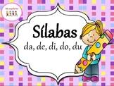 Sìlabas con la letra D   - da, de, di, do, du. Con 2 hojas