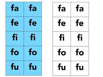 Silabas con la letra F - fa, fe, fi, fo, fu con 2 actividades