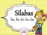Sìlabas con la letra b   - ba, be, bi, bo, bu. Con 3 hojas de trabajo diferentes