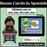 Sílabas con la letra m - ma, me, mi, mo, mu Spanish Boom Cards