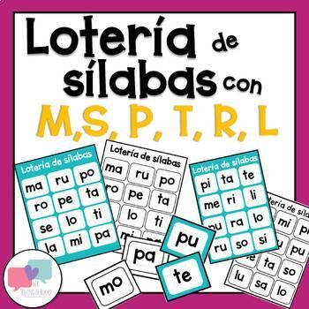 Silabas con m,t,p,l,s,r - lotería