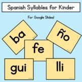 Silabas de Kinder/ Spanish Kindergarten Syllables