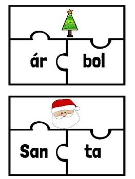 Sílabas de Navidad