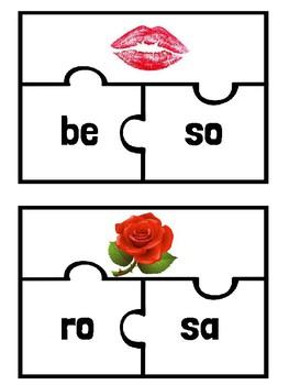 Sílabas del Día de San Valentín