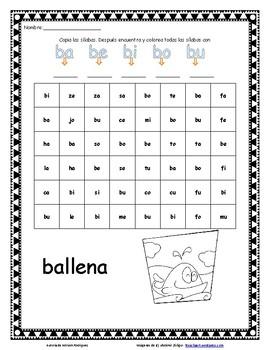Sílabas en Español by Fun Teaching Worksheets | Teachers Pay Teachers