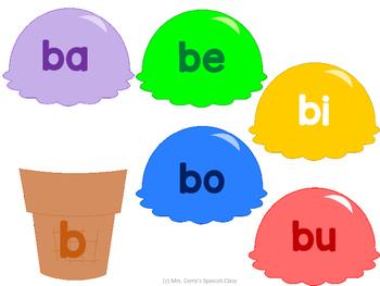 Sílabas en español {Icecream dramatic play} Literacy center spanish syllables