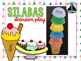 Sílabas en español {Icecream dramatic play} Literacy cente