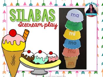 Sílabas en español {Icecream dramatic play} Literacy cente