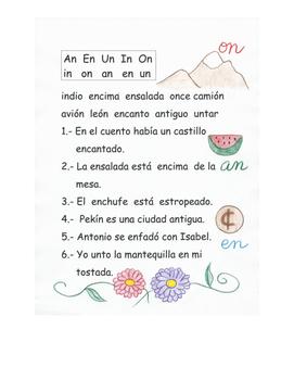 En español. Sílabas inversas An On Un