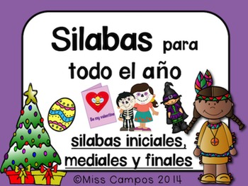 Silabas para días de fiesta (Syllables Practice with Holid