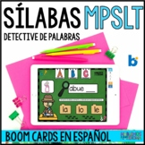 Sílabas MPSLT | SYLLABLE MATCH - BOOM CARDS in SPANISH