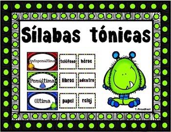 Silabas tonicas