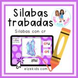 Silabas trabadas con cr | Vocabulario en Español | Boom Cards