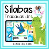 Silabas trabadas con dr | Vocabulario en Español | Boom Cards