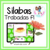 Silabas trabadas con fl | Vocabulario en Español | Boom Cards