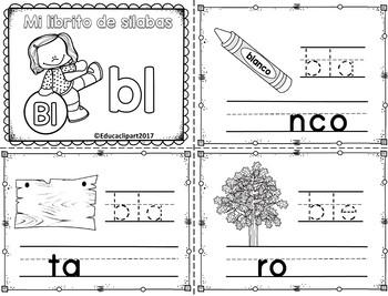 Sílabas trabadas - mini librito sílabas con Bl