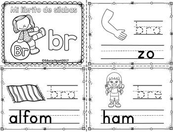 Sílabas trabadas - mini librito sílabas con br