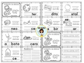 Sílabas trabadas - mini librito sílabas con cr