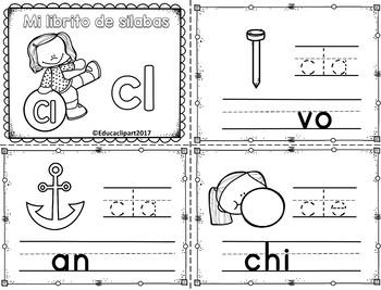 Sílabas trabadas - mini libritos sílabas con cl