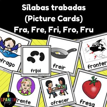Silabas trabadas picture cards: fra fre fri fro fru