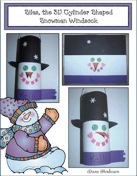 Silas, The 3D Cylinder Shaped Snowman Windsock