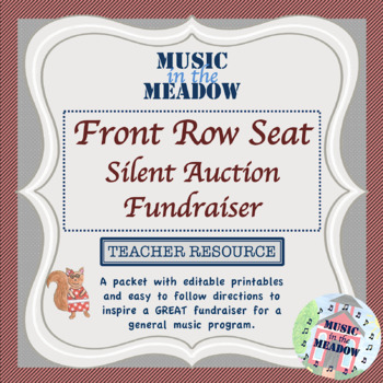 Silent Auction for Front Row Seats Fundraiser Pack