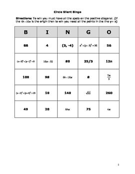 Silent Bingo Circle Properties