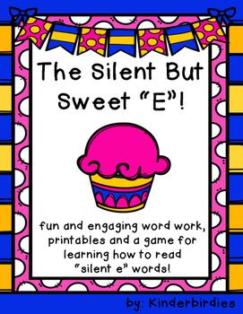 "Silent But Sweet ""E"" Word Work"