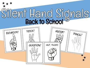 Silent Classroom Hand Signals