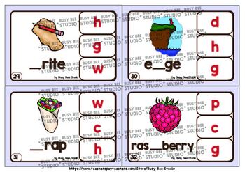Silent Letters Clip Cards