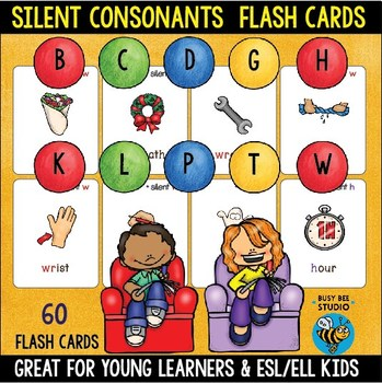 Silent Letters Flash Cards