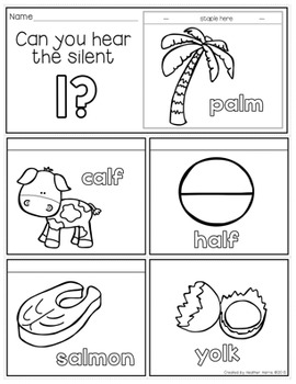 Silent Consonant Flip Books- no prep mini books