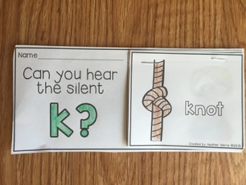 Silent Consonant Flip Books- no prep mini books