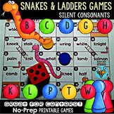 Silent Consonant Letters Game: Snakes & Ladders