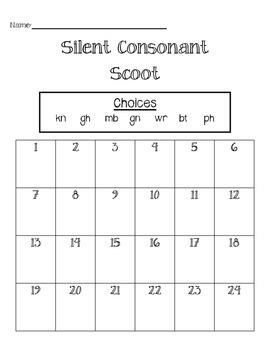 Silent Consonant Scoot
