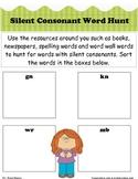 Silent Consonant Word Hunt
