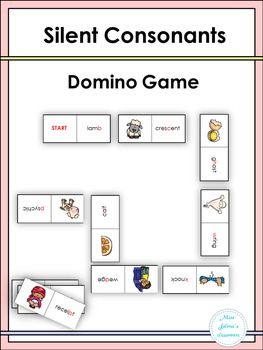 Silent Consonants Domino Game
