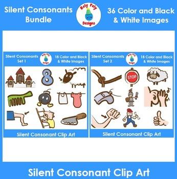 Silent Consonants Phonics Clip Art Bundle