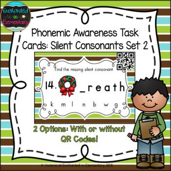 Silent Consonants Task Cards Set 2