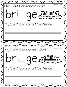 Silent Consonants Writing Book
